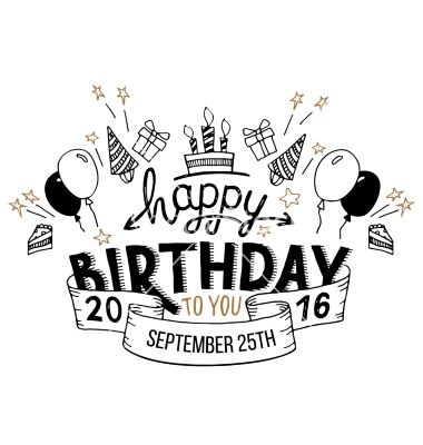 happy birthday lettering happy birthday greeting card lettering vector 141