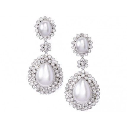 Tejani Jewelery — Pearl Chandelier Earrings - $150