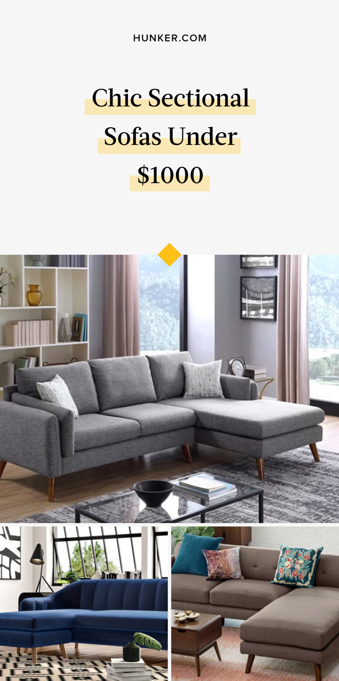32 Comfortable Yet Chic Sectional Sofas Under $32,32   Hunker ...
