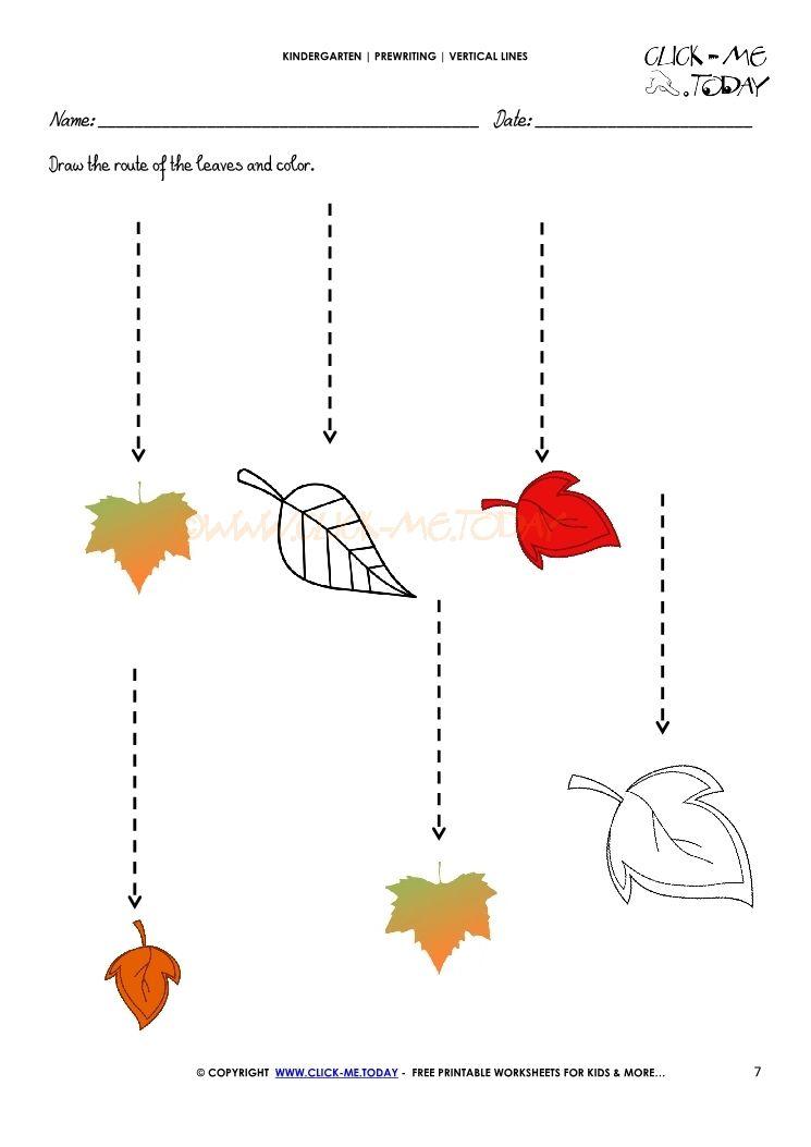 Line Tracing Worksheets For Kindergarten