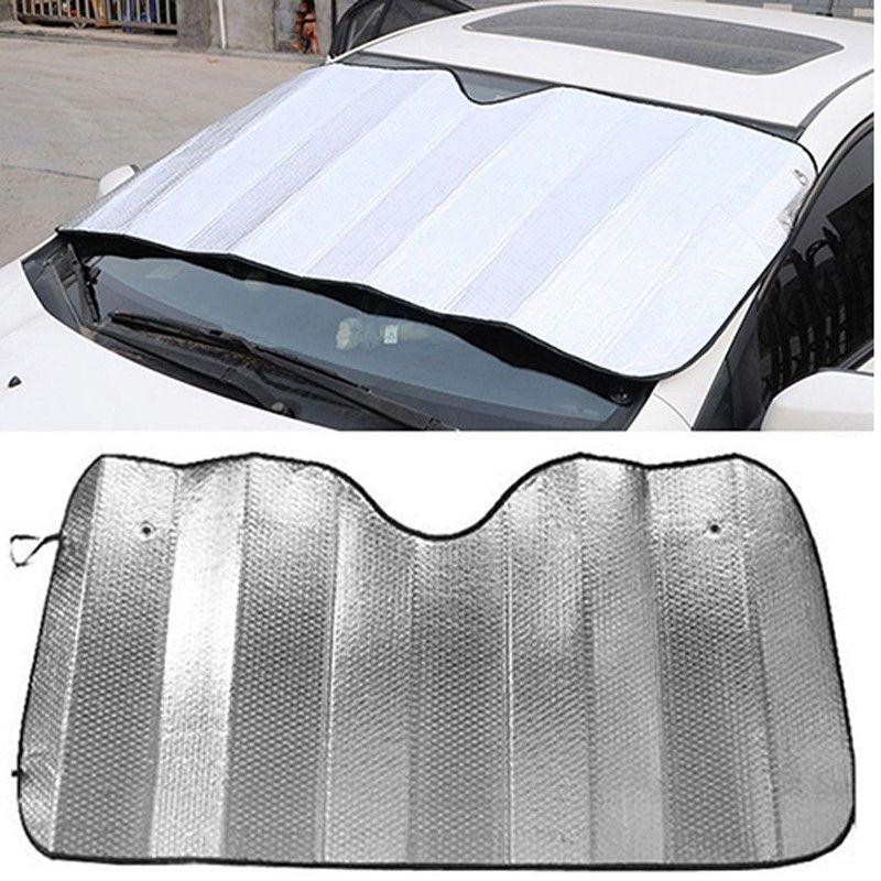 130 60cm Universal Reflective Car Aluminum Foil Windscreen Sunshade Front Window Sun Shade Windshield Visor Cover Uv Protec Car Sun Shade Window Sun Shades Car