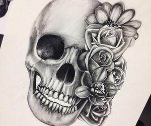 floral + skull
