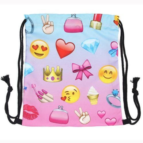 Fashion Women unicorn Backpack 3D printing travel softback women drawstring  bag School girls backpacks 3236db13f5308