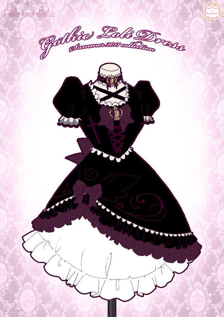 gothic loli dress by nekovi on deviantart paper dresses