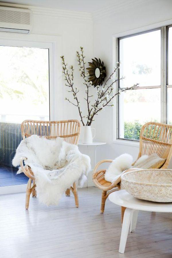 Schicke Rattanmöbel peppen das Wohnzimmer-Interieur auf  Haus