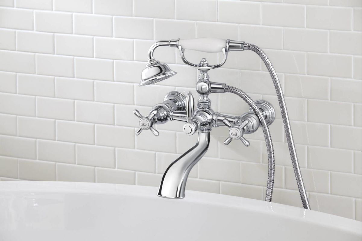 Pin By Kimberlee Gracefully Girly On Bath Hostick Way Tub Filler Clawfoot Tub Clawfoot Tub Faucet