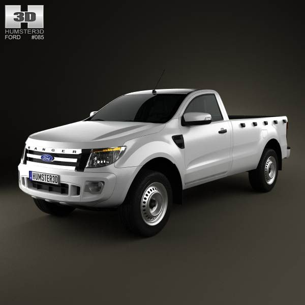ford ranger single cab 2012 3d model from. Black Bedroom Furniture Sets. Home Design Ideas