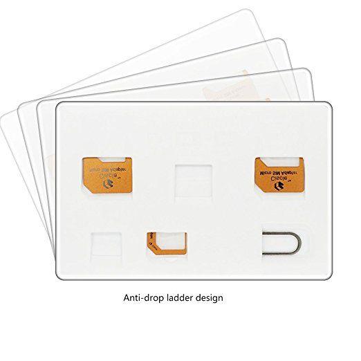 Amazon Com Ciscle Sim Adapter Nano Sim Card Micro Sim Card Sim Card Adapter 5 In 1 White Sim Card Box Sim Card Holder Sim Sim Card Adapter Sim Cards Card Box