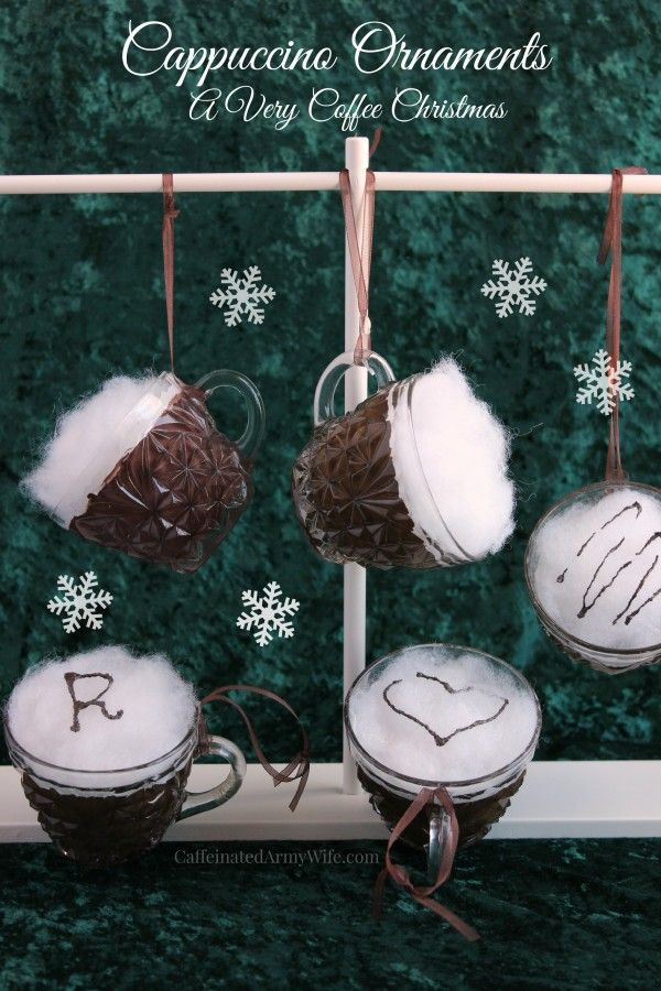 Coffee Christmas Ornaments.Diy Cappuccino Ornaments Are Perfect For This Year S Coffee