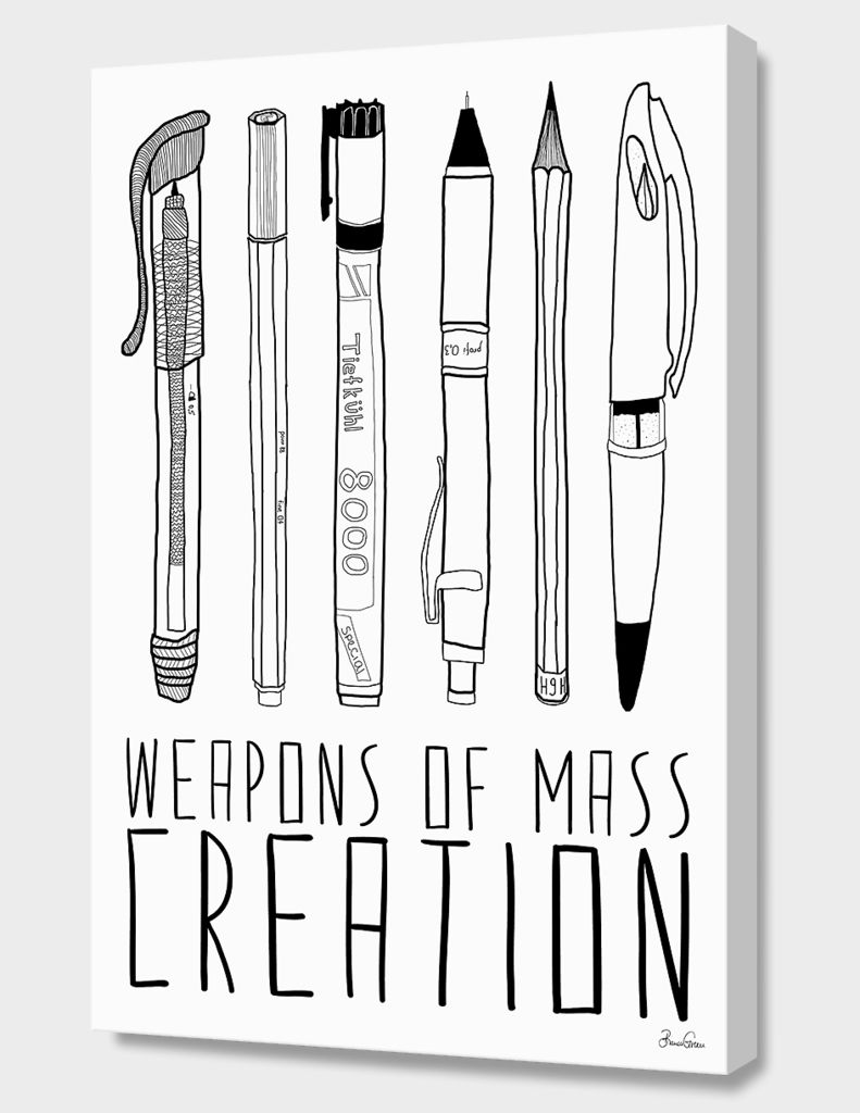 «WEAPONS OF MASS CREATION» Canvas Print by Bianca Green - Numbered Edition from $59   Curioos
