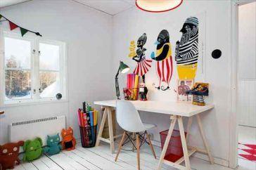 Le design scandinave bureau blanc et déco colorée deco bureaux
