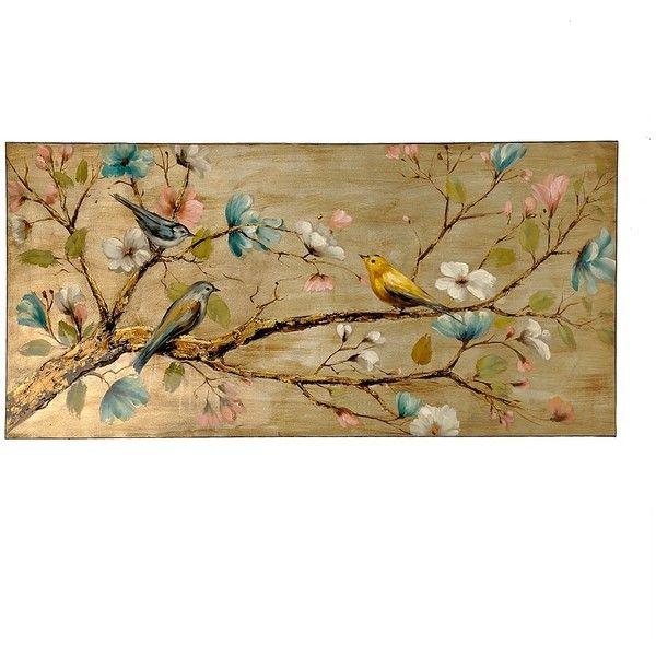 Bird Home Decor Birds in a Tree Canvas Wall Art Print