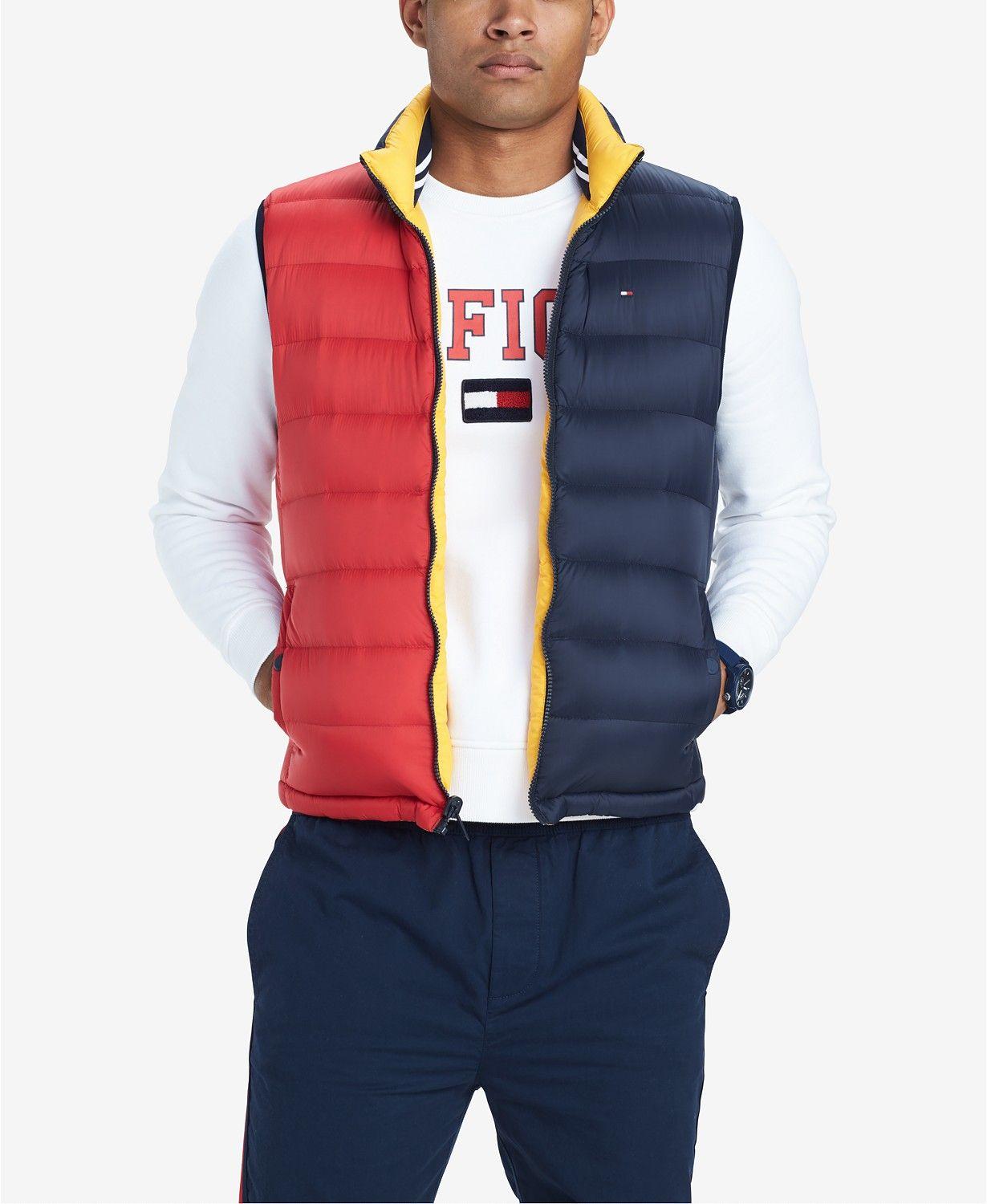 7f5a10fa Magnified main image Puffer Vest Outfit, Vest Outfits, Tommy Hilfiger  Outfit, Work Jackets