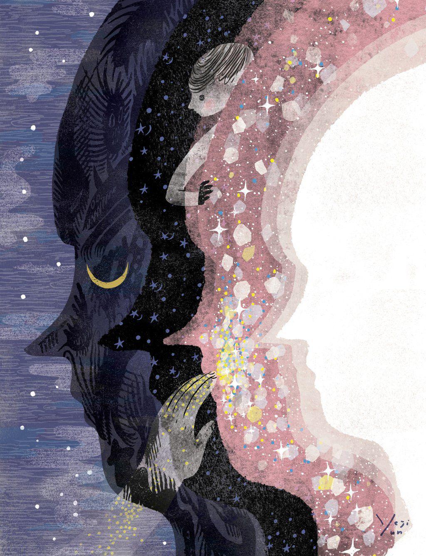 Yeji Yun the dream giver (Lois Lowry의 소설 gossamer 삽화) https://t.co/z3ZX1VAeC1