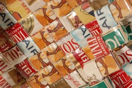 Cigarette Wrapper Weaving. | Tramp Art, Hobo Art, Prison Art
