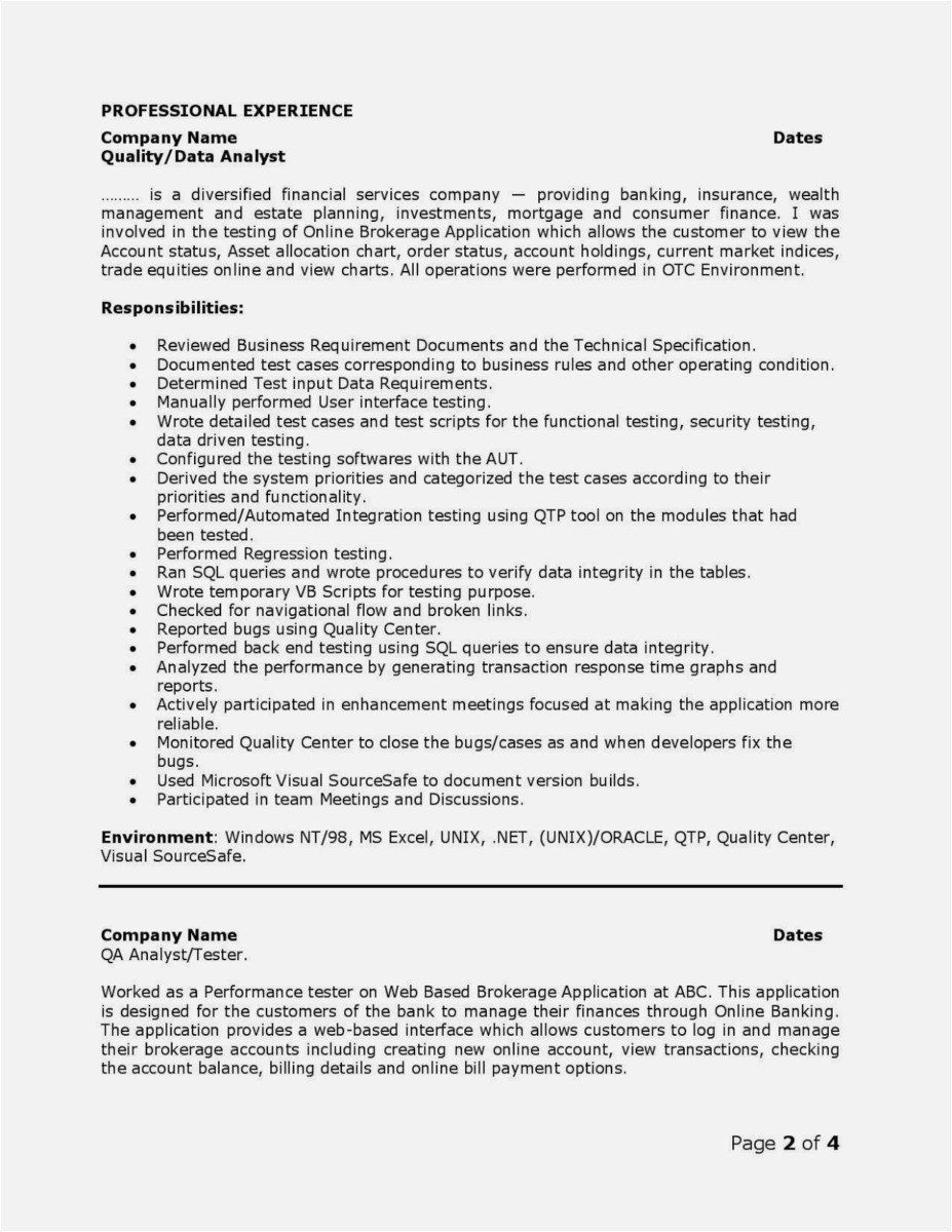 Web Services Testing Resume Fresh New Qtp Resumes For Experienced Resume Examples Job Resume Examples Resume