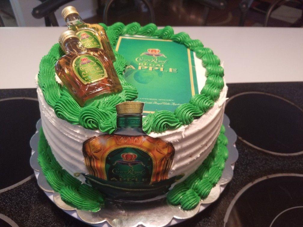 Apple Crown Royal Cake Vanilla Cake With Apple Crown