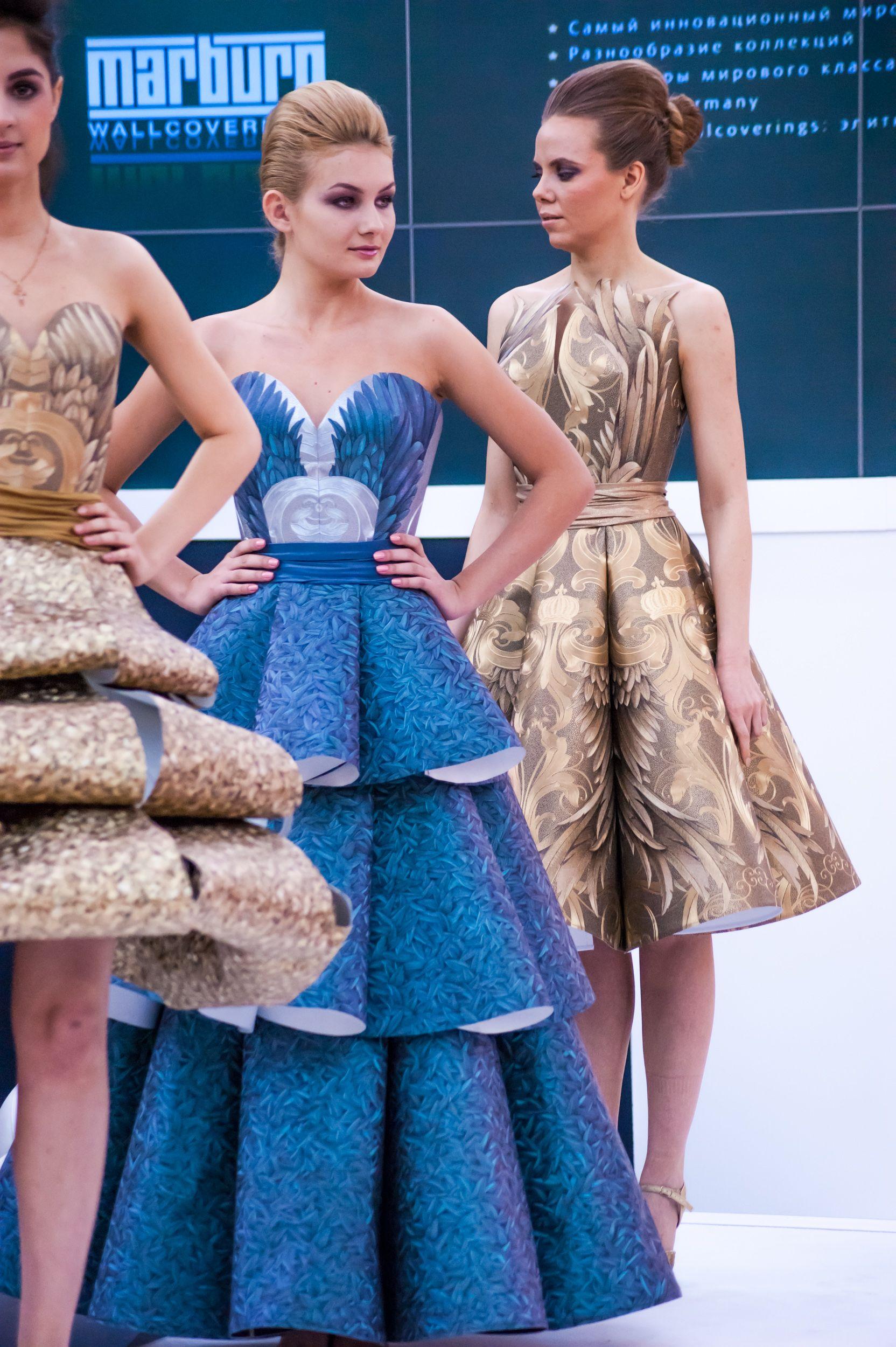 Платья из бросового материала своими руками