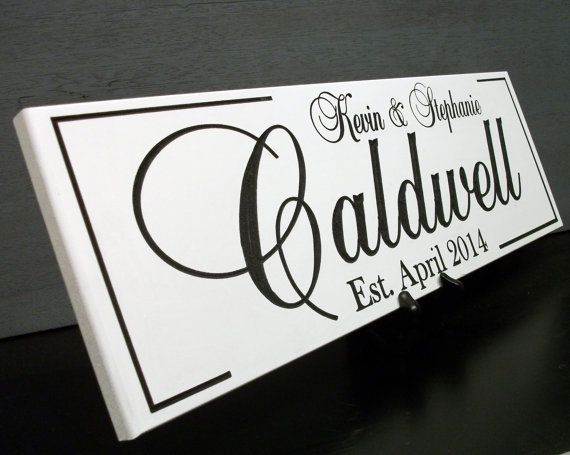 How about a custom sign as a personalized real estate closing gift.