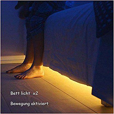 Jindia Dimmbar Bewegung aktiviert Bett Licht, Flexible LED ...