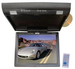 15.1'' Flip Down Monitor w/ Built In DVD/SD/USB player w/ Wireless FM Modulator/ IR Transmitter