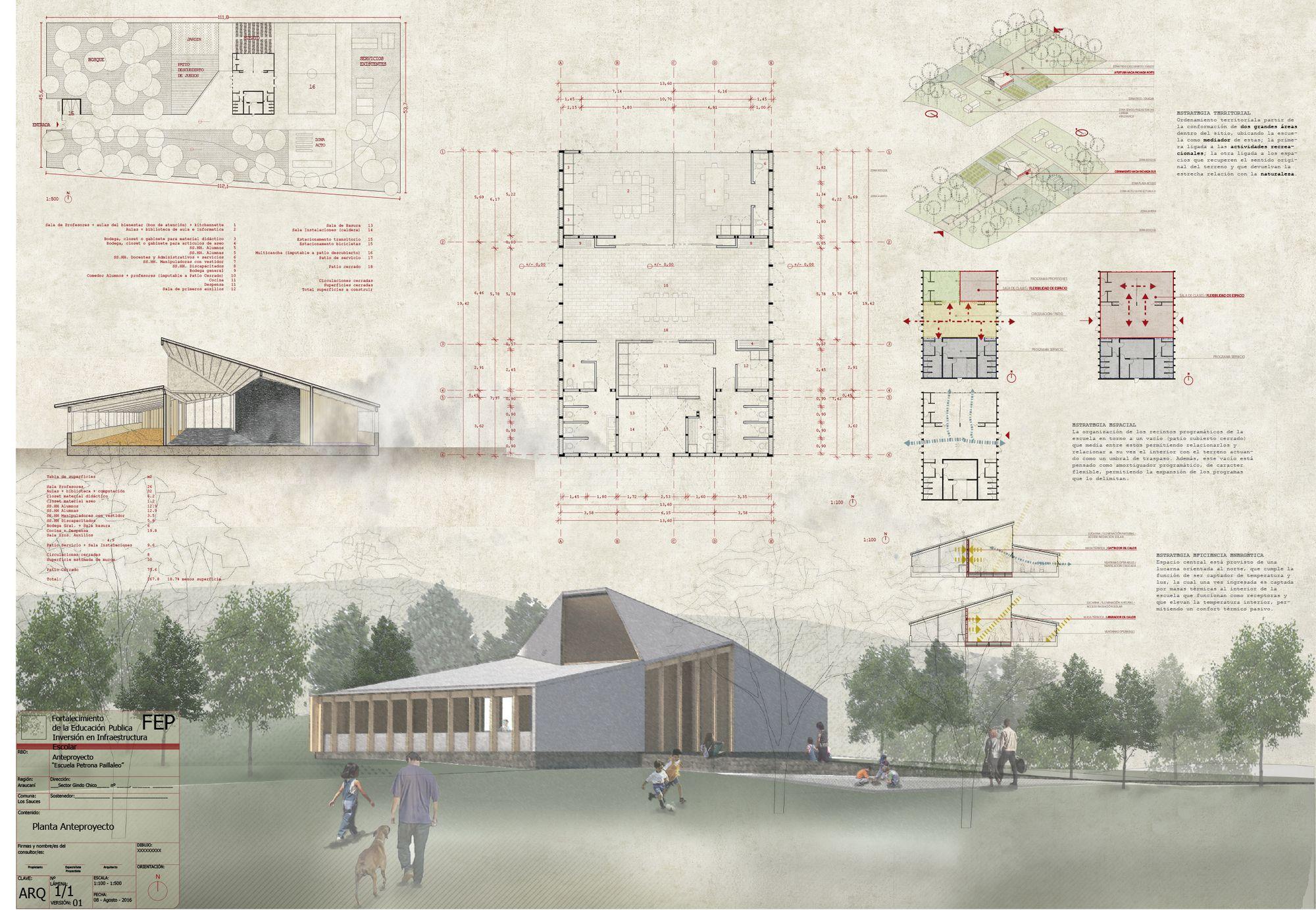Conoce los diseños ganadores para reponer ocho escuelas rurales al sur de Chile