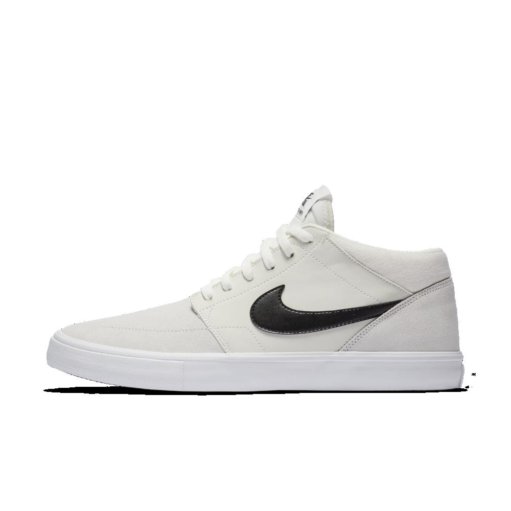 newest d386d 2dae8 Nike SB Solarsoft Portmore II Mid Men s Skateboarding Shoe Size 12.5 (White)
