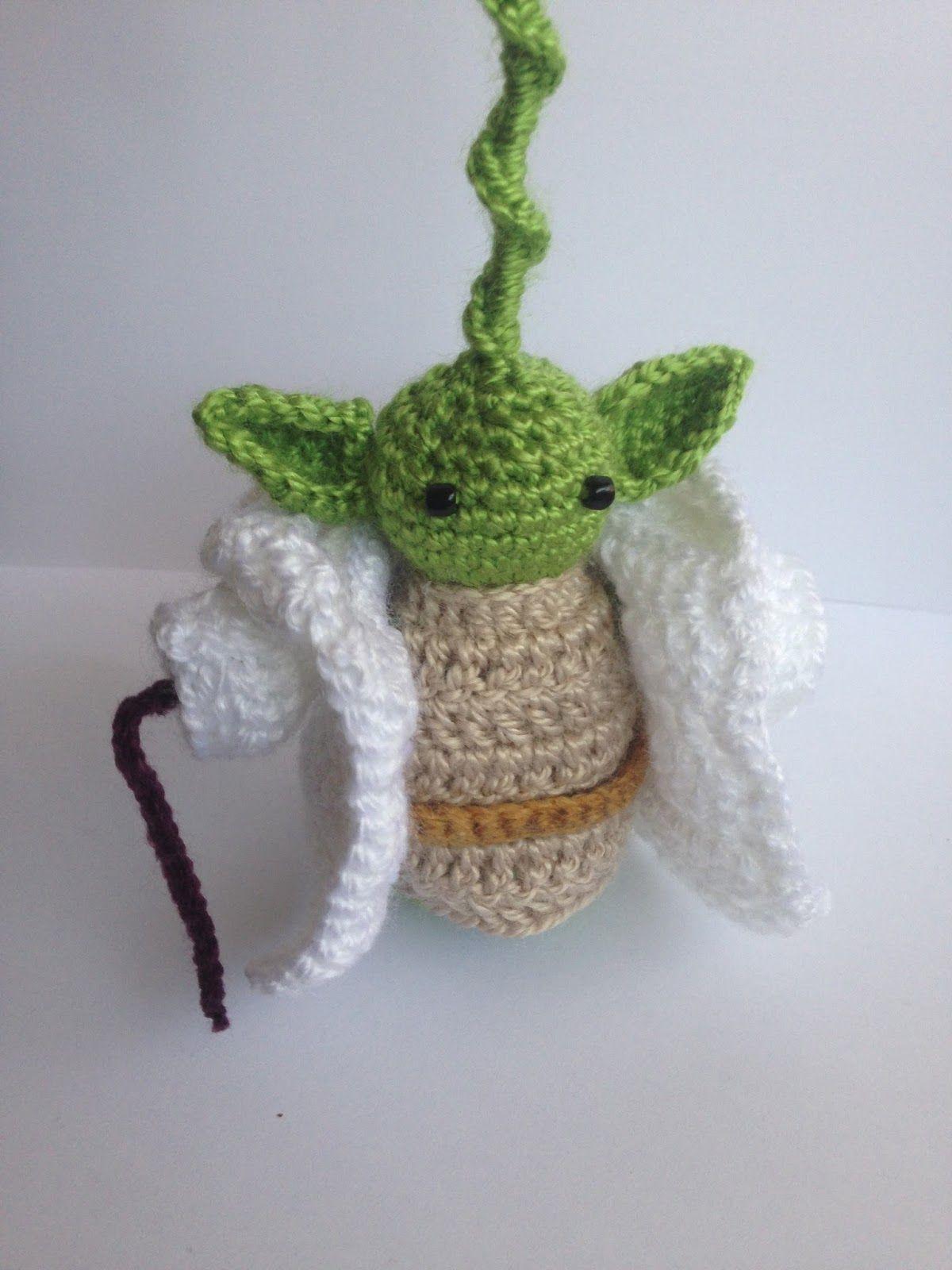 patrón gratis amigurumi Yoda Star Wars | Patrones amigurumi ...