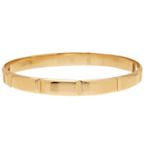 Melinda Maria Margo Bangle (364.450 IDR) ❤ liked on Polyvore featuring jewelry, bracelets, gold, 18k bangle, 18 karat gold jewelry, hinged bracelet, bangle jewelry and bracelets bangle