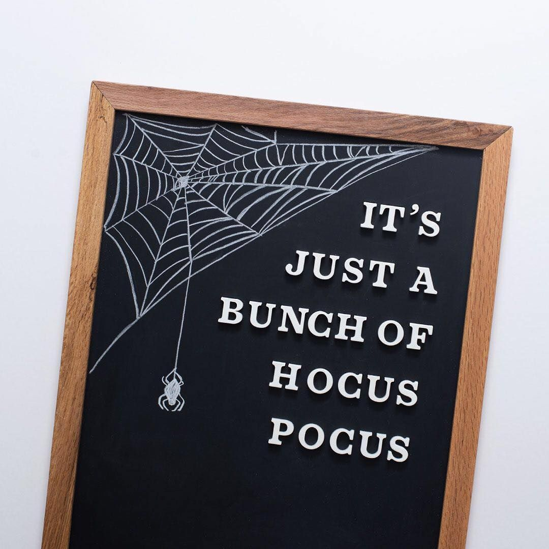 The Type Set Co Magnetic Letterboards Chalkart Halloweenchalk