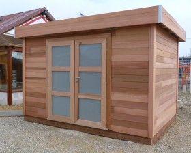 Abris de jardin en bois à toit plat pour un look moderne Plus ...