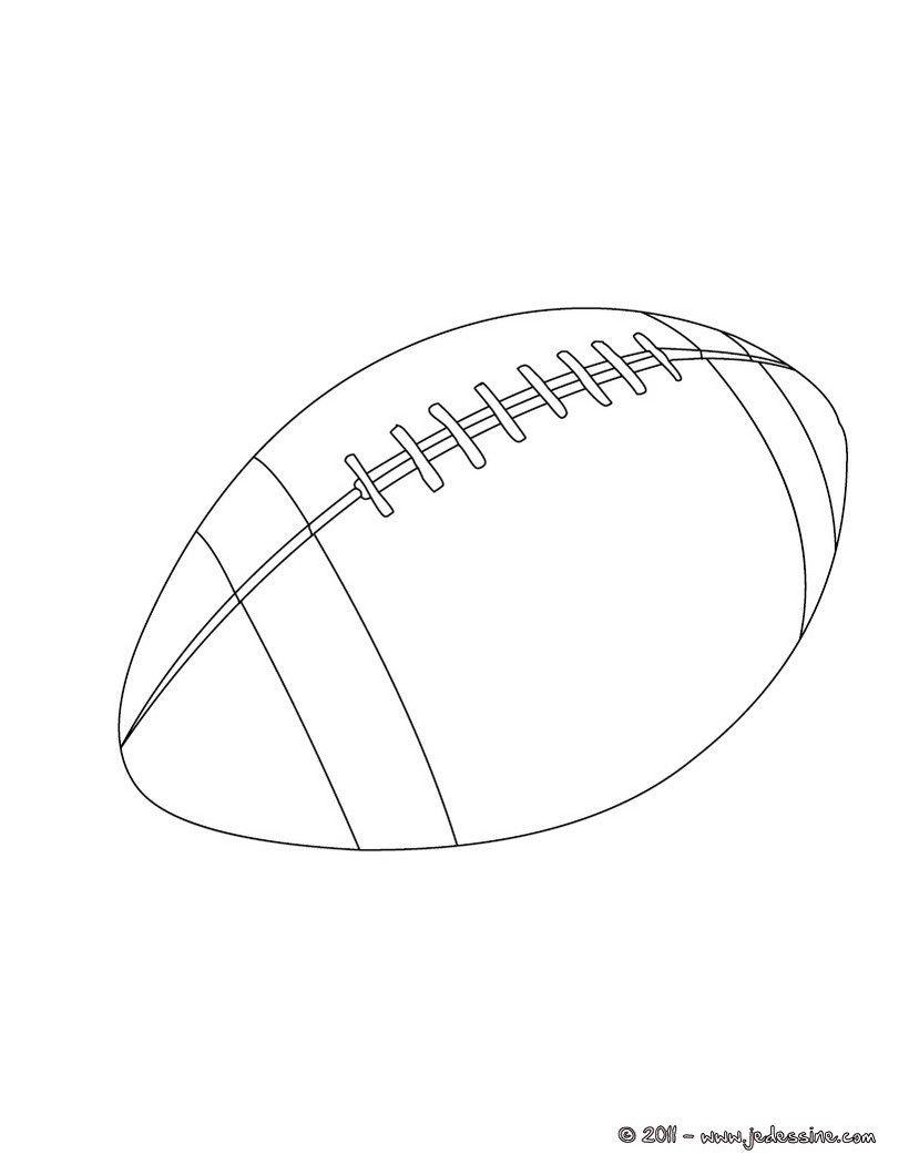 Coloriage Ballon De Rugby.Ballon De Rugby Dessin Coloriages Imprimer Download