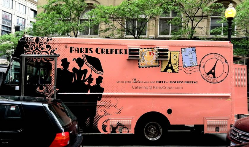 Paris Creperie S Award Winning Food Truck Design Random