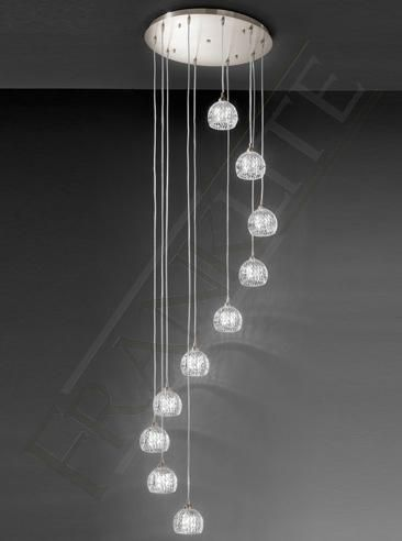 10 Light Chandelier Pendant, Modern Lighting Fixture with