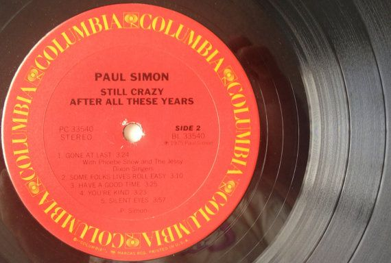 Paul Simon Still Crazy After All These Years Lp Vinyl Record Album Columbia Pc 33540 1975 Original Pressing In 2020 Simon Garfunkel Vinyl Records Vintage Vinyl Records