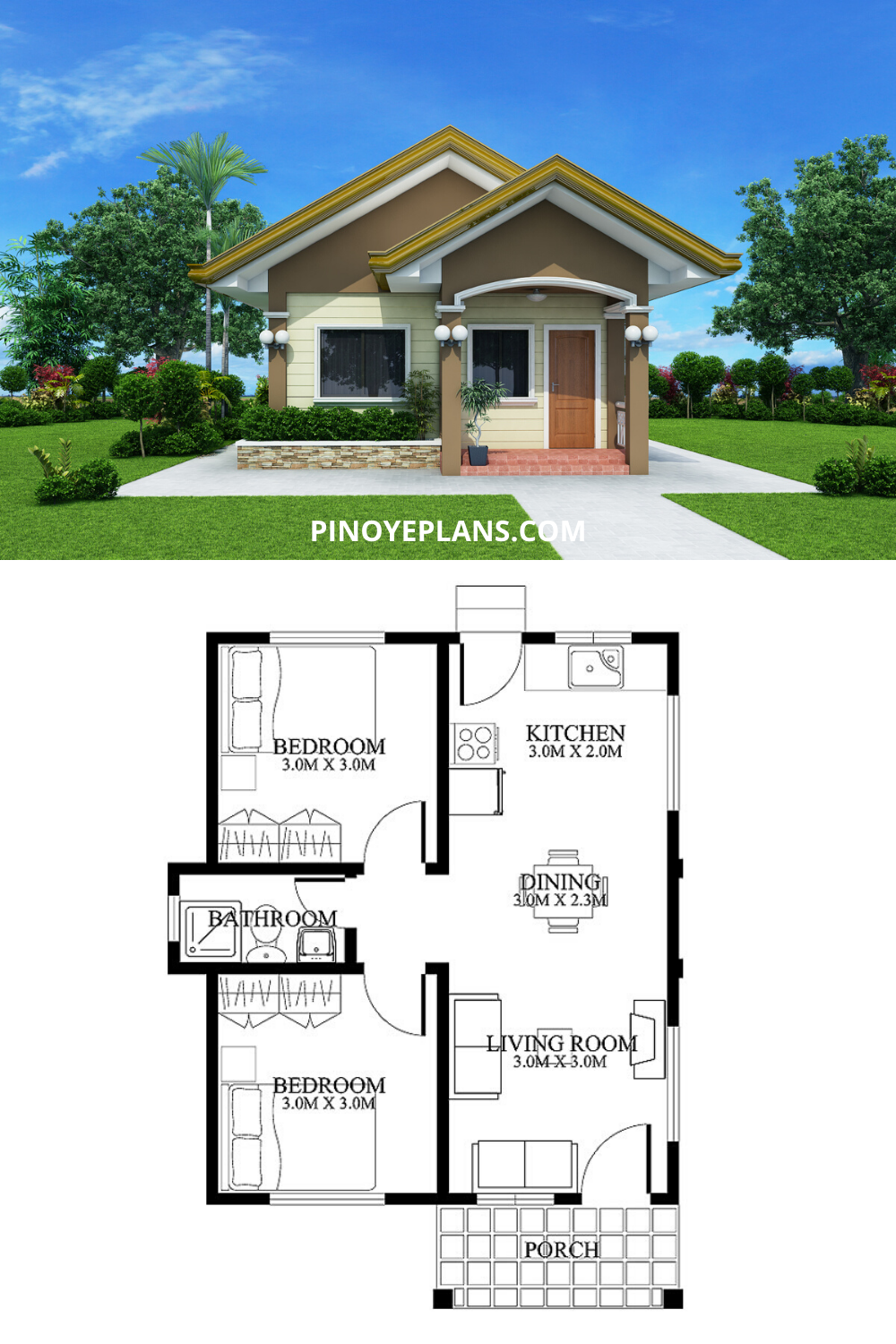 Small House Designs Shd 2012001 Pinoy Eplans Small House Design Affordable House Plans Small House Design Floor Plan