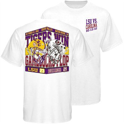 Lsu Tigers Vs South Carolina Gamecocks Victory Score T Shirt College Football Shirt Lsu Merchandise Lsu