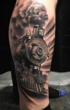 Tatuaje Locomotora Fotos De Tatuajes Tatuajes Pierna Tatuajes