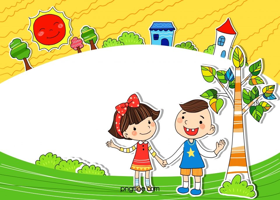 Background Cartoon School Children Cartoon Background Cartoon Clip Art Kids Background