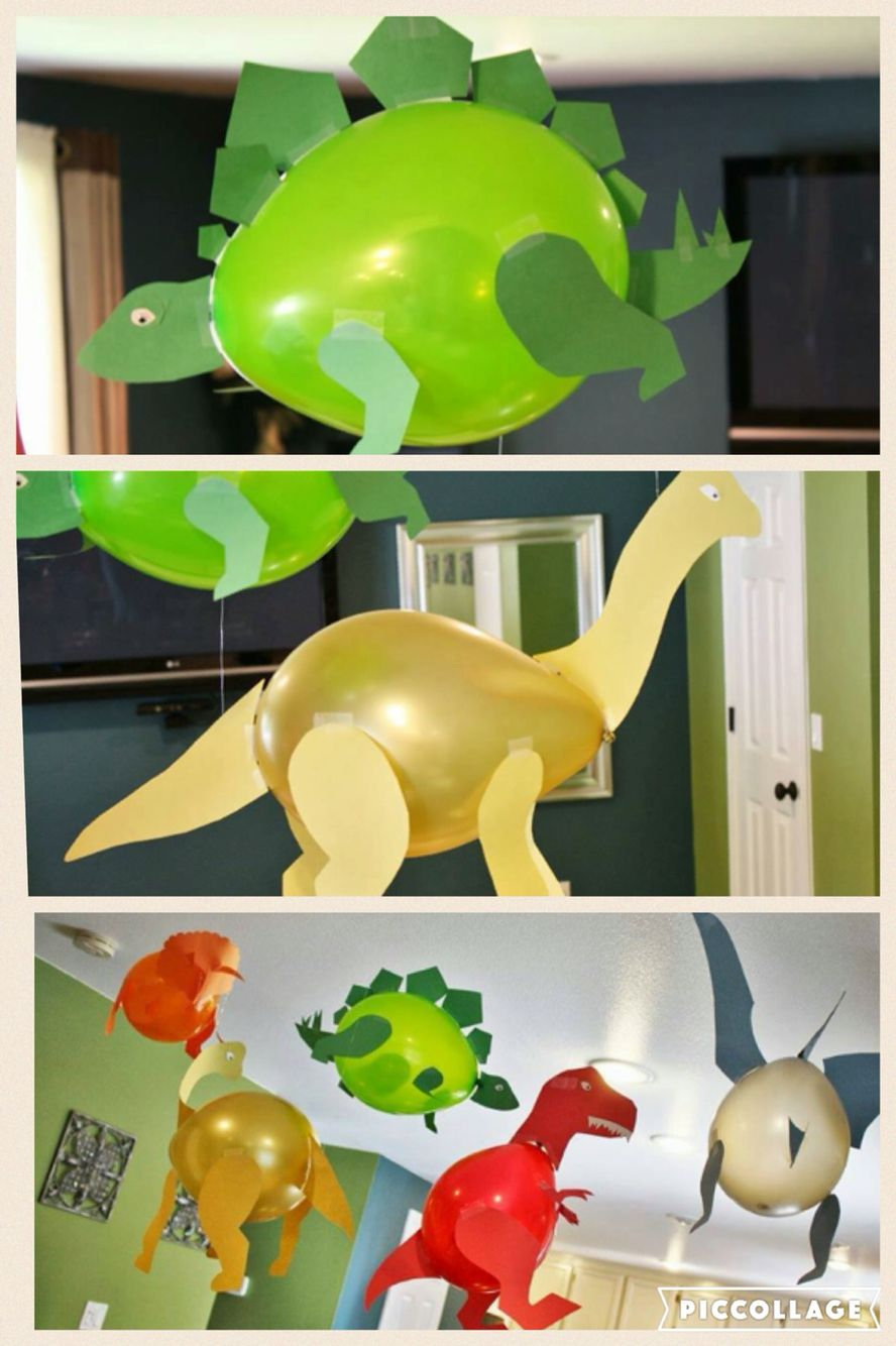 Dinosaur balloons. Baby shower birthday party awesome idea. | Baby ...