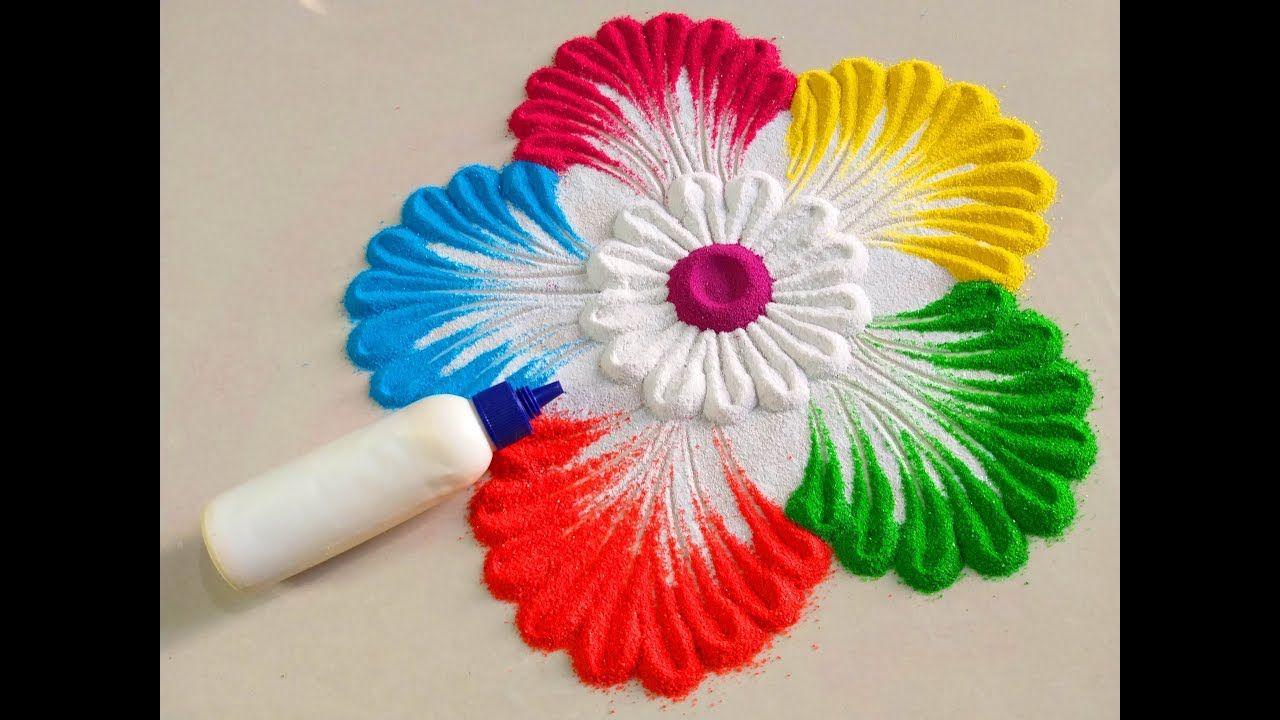 Basic Rangoli Flower design for Diwali by DEEPIKA PANT