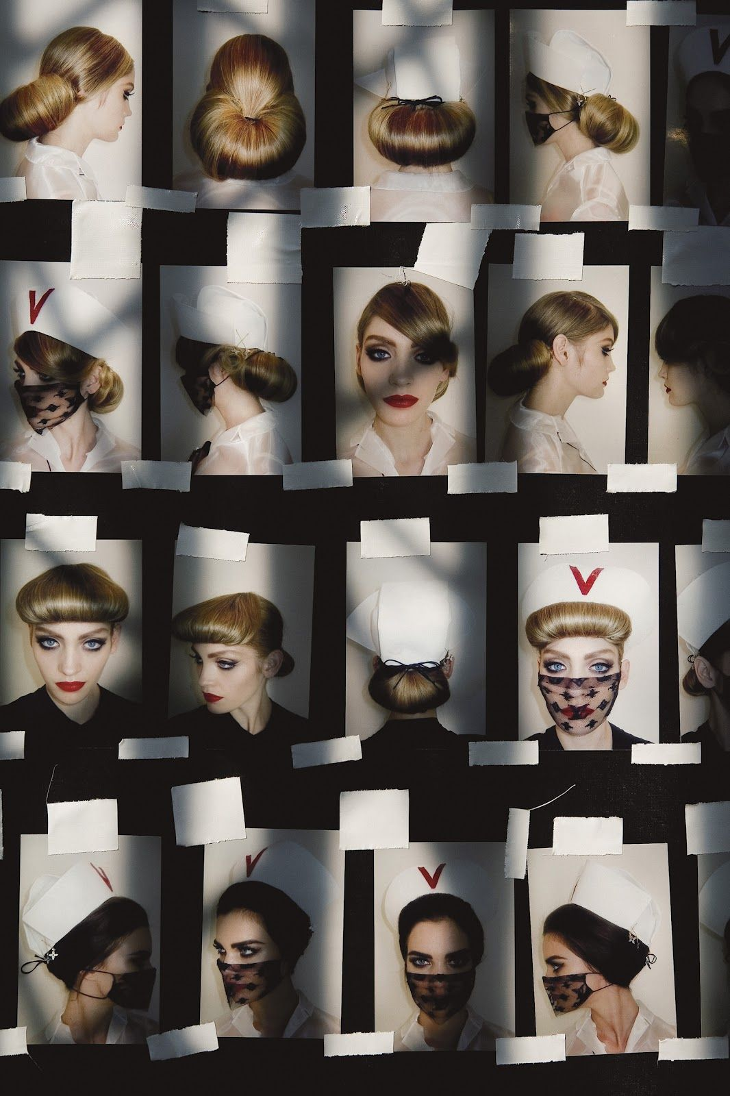 """Benoit PEVERELLI :: Polaroid sequence from S/S 2008 runway show """"Nurses"""" inspired by Richard Prince for Louis Vuitton"""