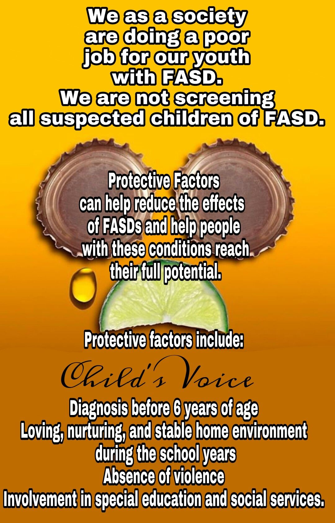 Pin by Child's Voice on FAS Awareness Helping people
