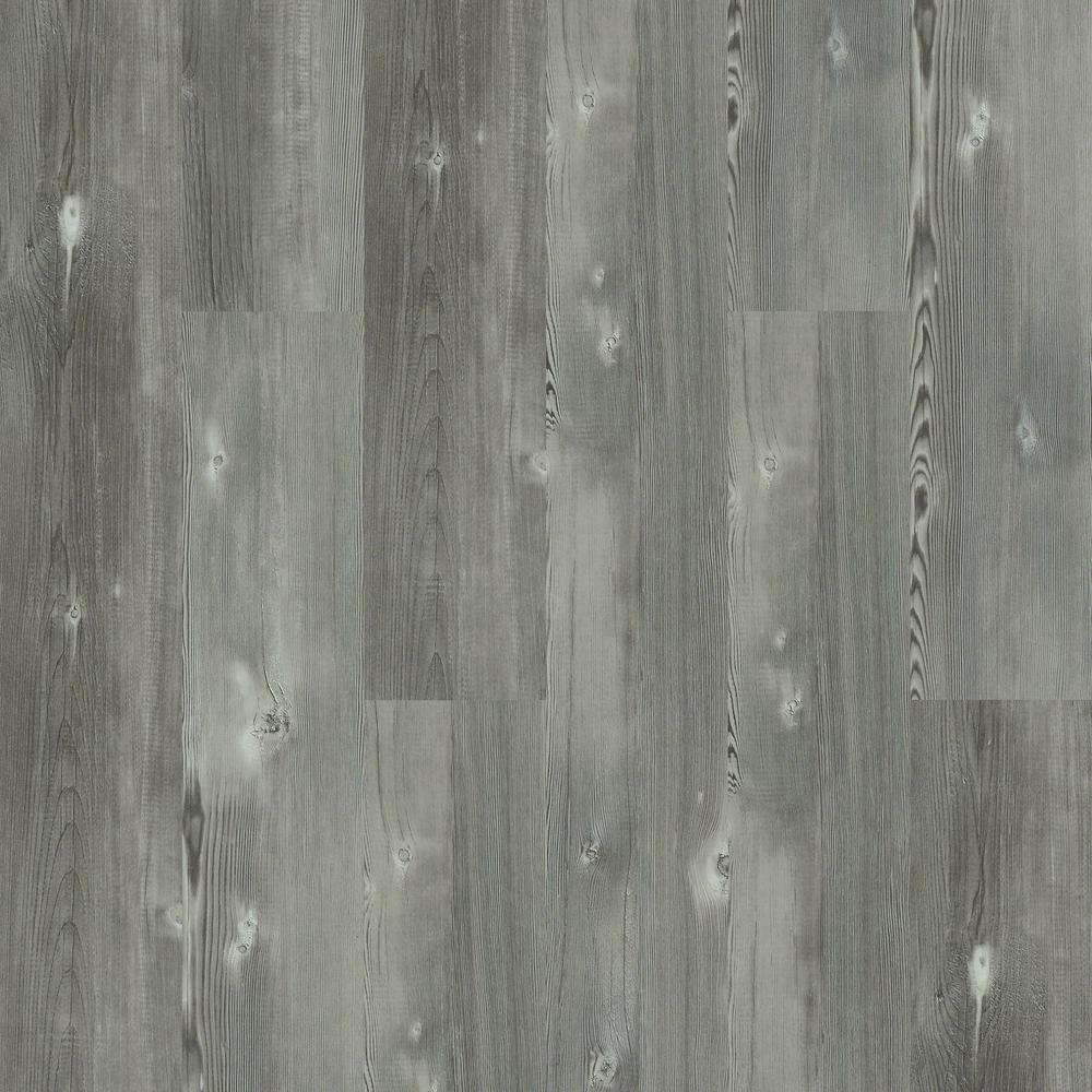 Pinebrooke Direct Glue 9 in. x 59 in. Stone (Grey) Resilient Vinyl ...