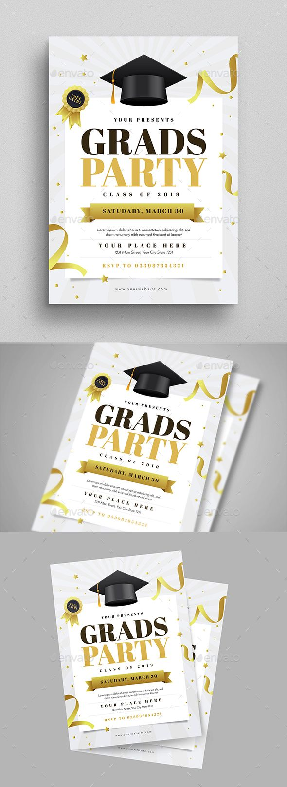 Graduation Party Flyer | Party flyer, Event flyers and Flyer template