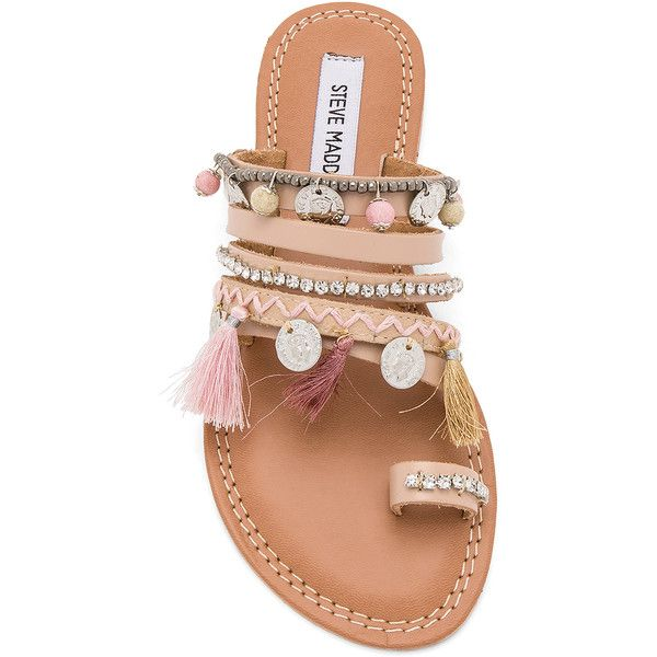 fa1618e241c6f Steve Madden Rippel Sandal (€71) ❤ liked on Polyvore featuring shoes,  sandals, beaded leather sandals, steve madden, leather sandals, leather slip  on shoes ...