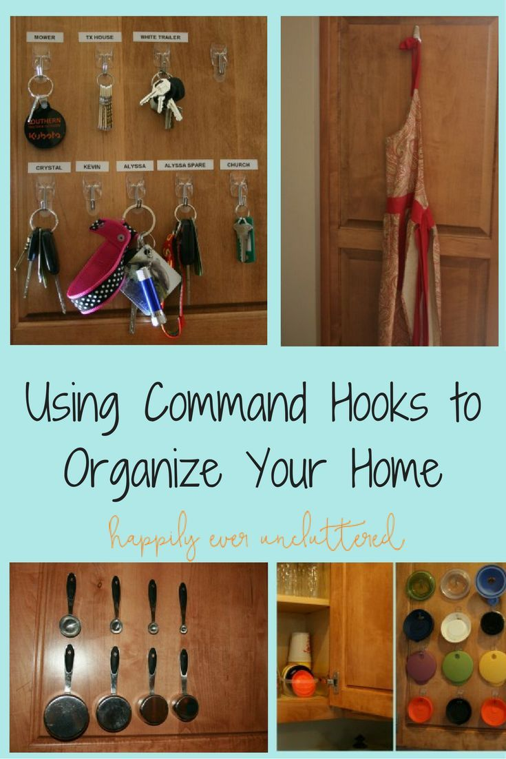Organizing with Command Hooks | Command hooks, Kitchen drawers and ...