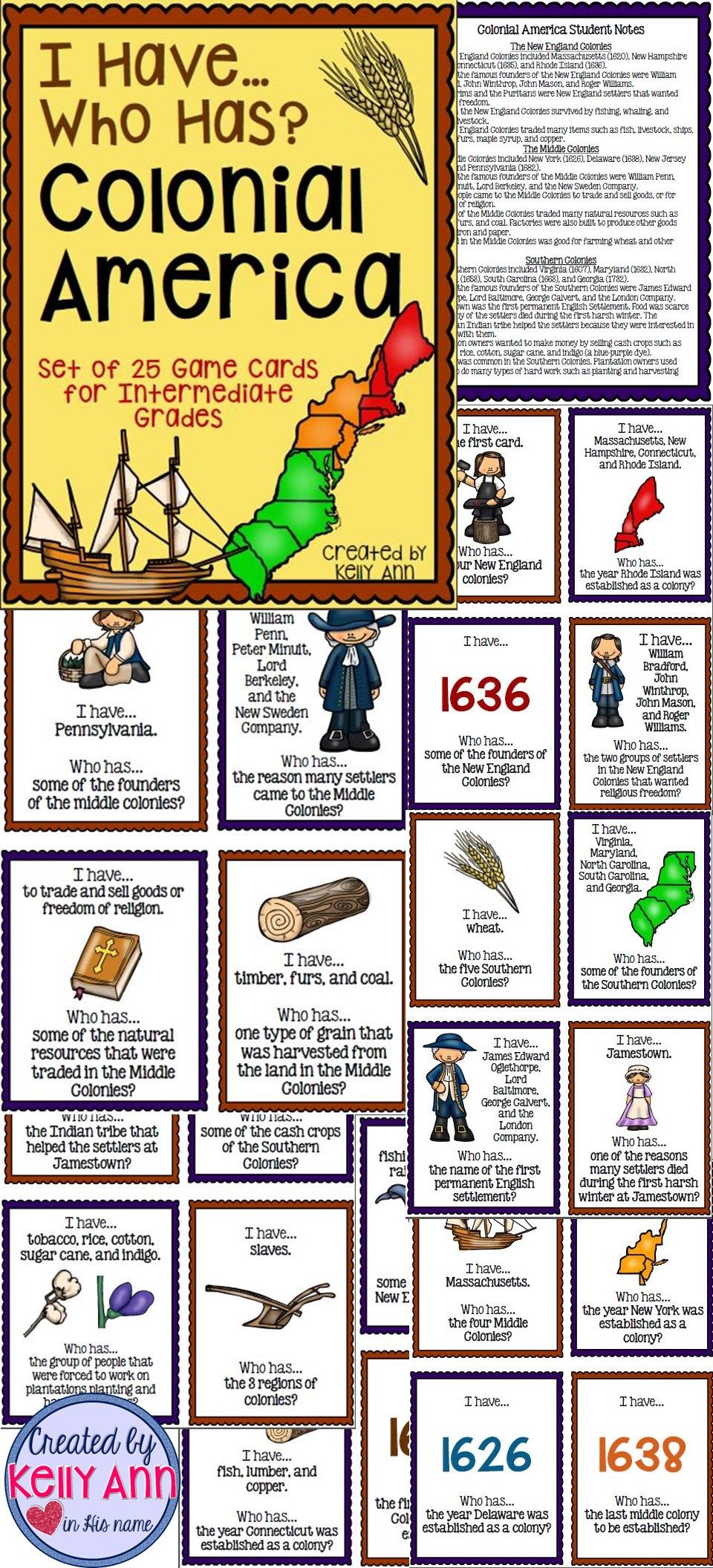 Pin By Created By Kelly Ann On My Tpt Products Social Studies Elementary Social Studies Education Colonial America [ 2112 x 960 Pixel ]