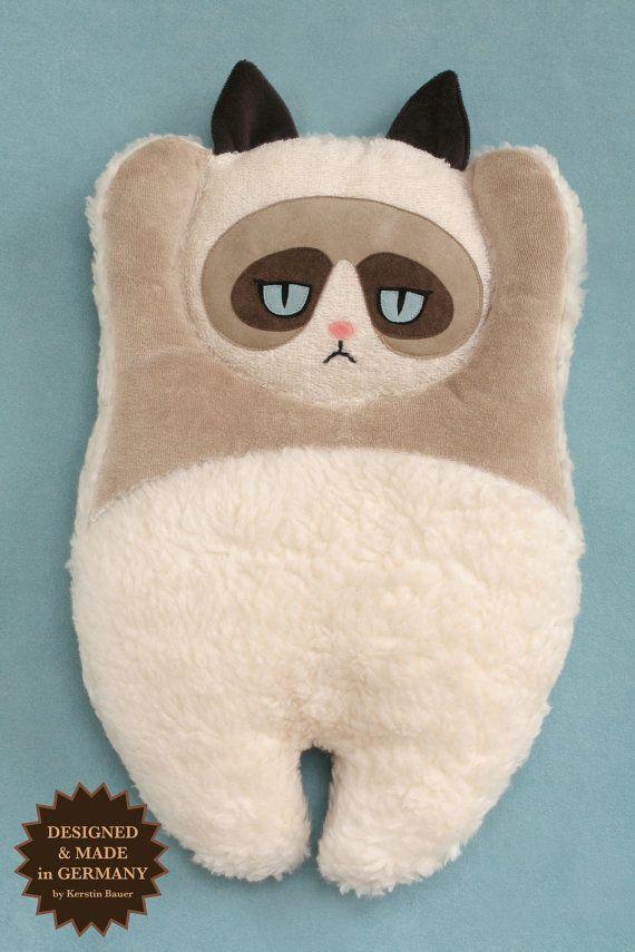 Grumpy Cat Plush Pillow Katzen Kissen Stoffpuppen Und Eulenkissen