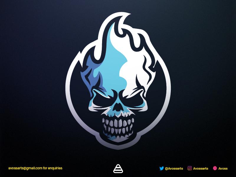 Skull Logo Logo keren, Desain logo